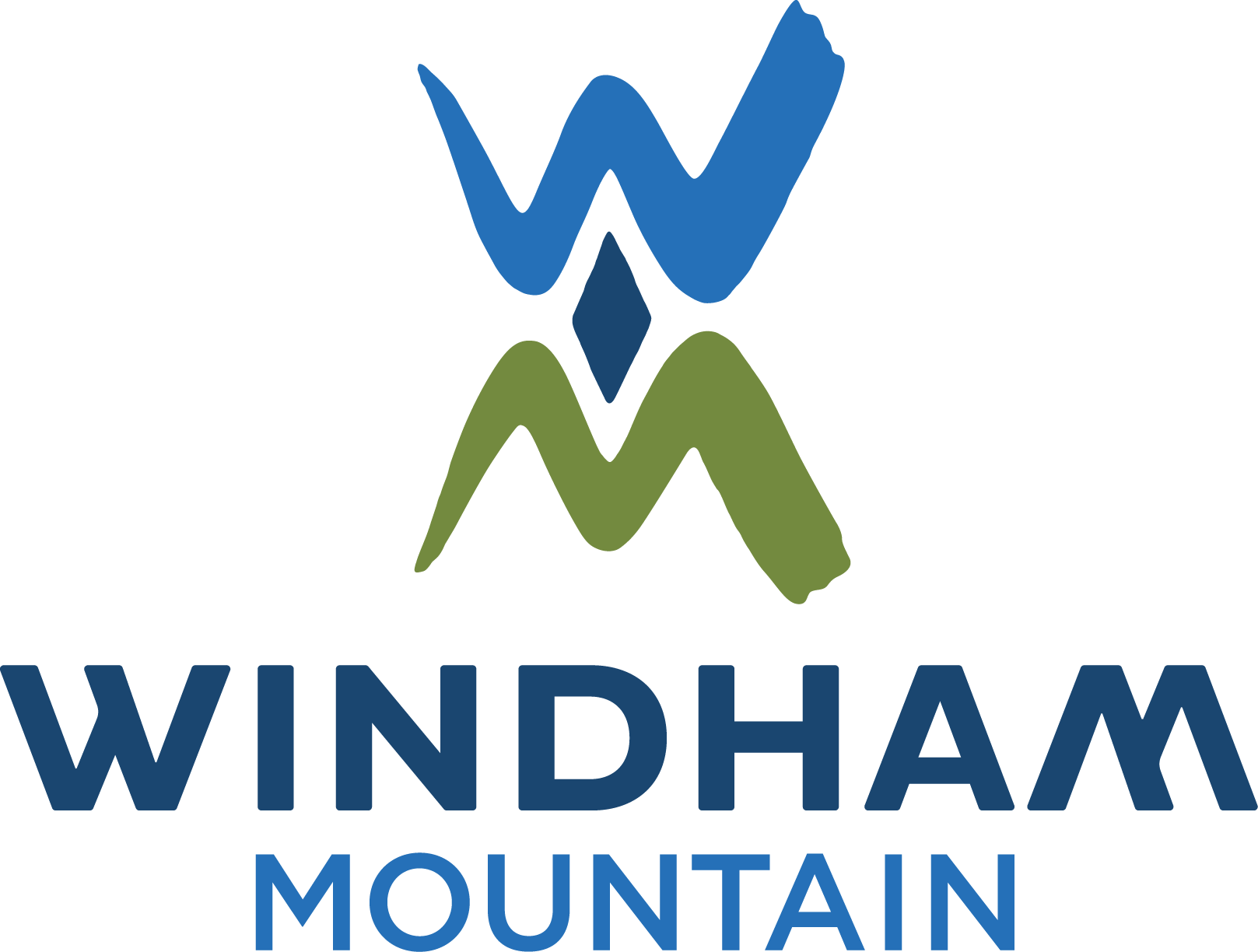 Windham mountain logo of skier jumping